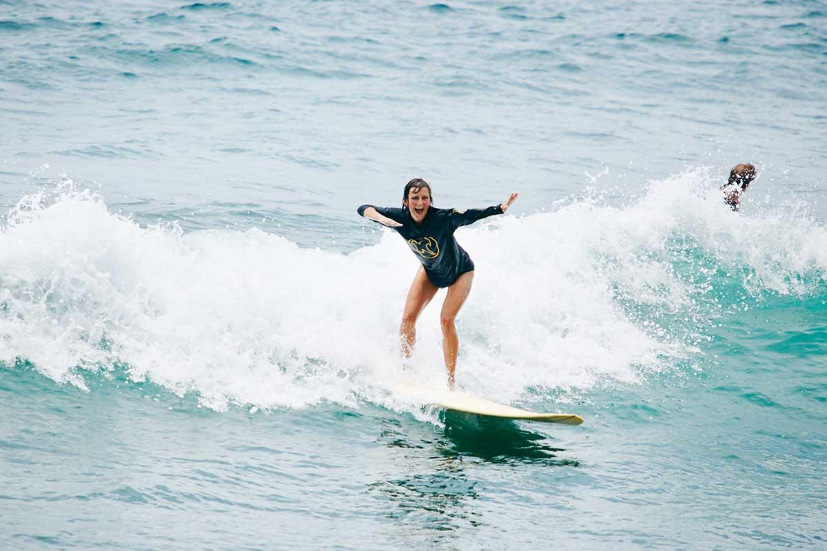 Kamafari Surfcamp Bali   First wave