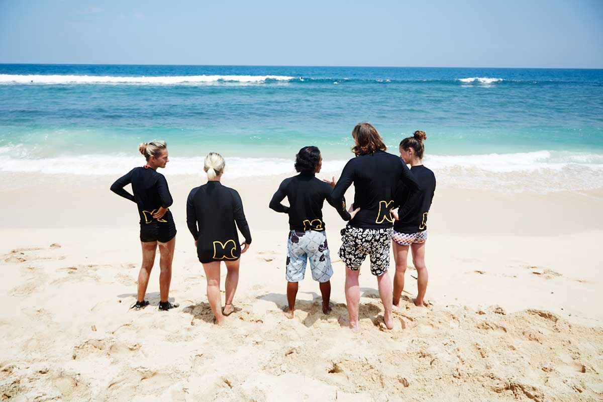 Kamafari Surfcamp Bali | Basics at the beach