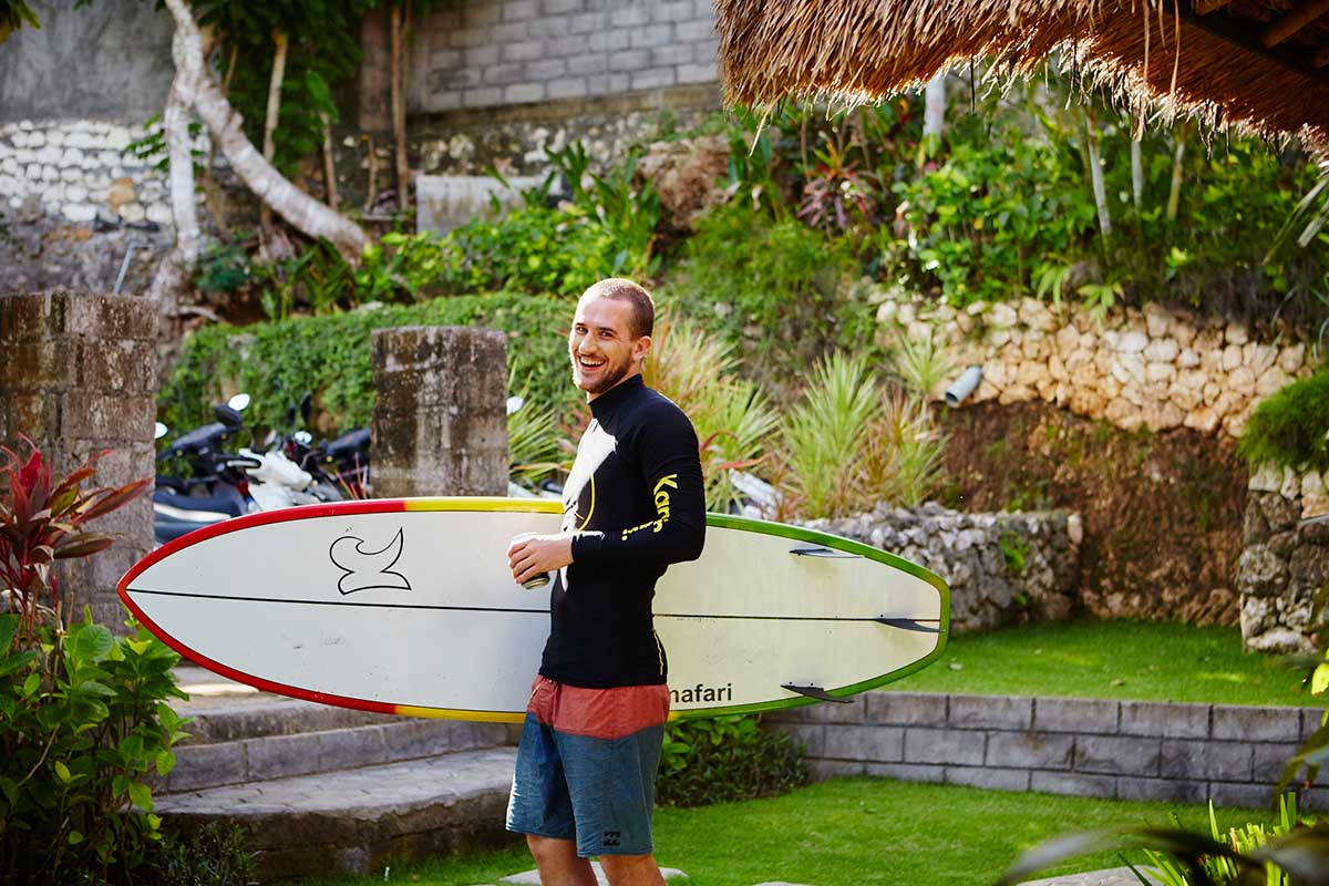 Kamafari Surfcamp Bali | before surfing