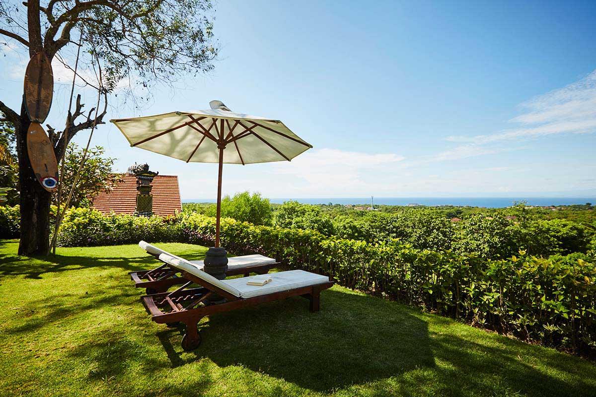 Kamafari Surfcamp Bali | Garden seaview