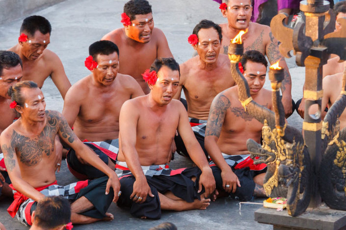 Traditional fire dance in Uluwatu