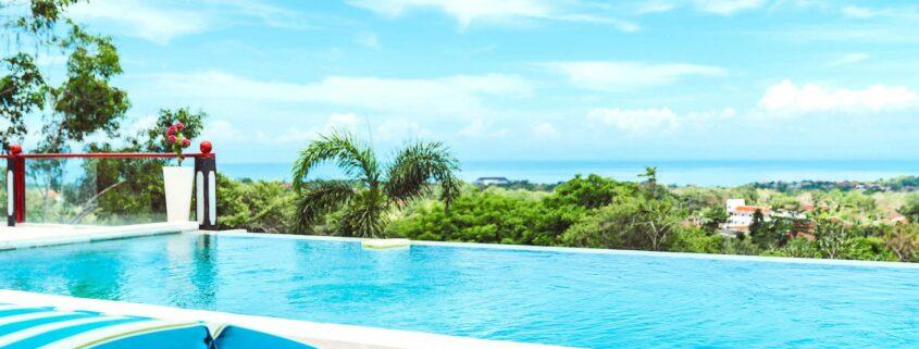 Infinity pool at Bali Surfcamp